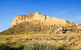 Cliff at semi-desert landscape Royalty Free Stock Photography