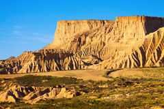 Cliff at  semi-desert  of Navarra Royalty Free Stock Photography