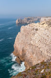 Cliff shore of Cape St Vincent in Portugal Royalty Free Stock Photo