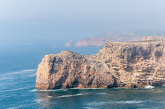 Cliff shore of Cape St Vincent in Portugal Stock Photo