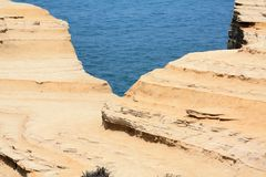 Cliff in Sidari, Corfu Stock Photos
