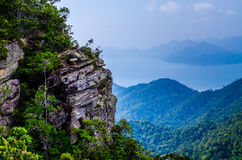 Cliff side with clouds Royalty Free Stock Photography