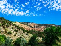 Cliff Side in New Mexico. Beautiful cliff side along the road in New Mexico stock photos