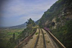 Cliff Side Railway Imagem de Stock Royalty Free