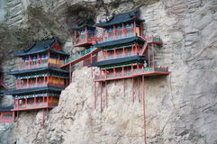 Cliff side temples Stock Image