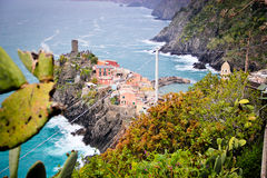 A cliff side town at Cinque Terre Stock Photos