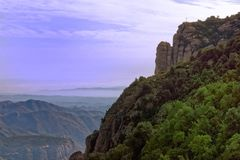 Cliff-side view from Montserrat Stock Photos