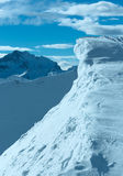 Cliff with snow (Austria). Stock Photos