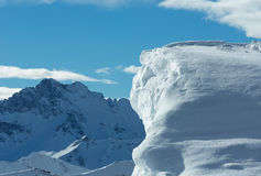 Cliff with snow (Austria). Stock Photography