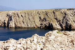 Cliff and strip of water Royalty Free Stock Images