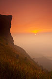 Cliff in sunrise Royalty Free Stock Images