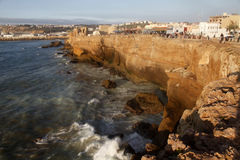 The cliff. Sunset in the cliff of morocco Royalty Free Stock Photo