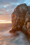 Cliff in sunset Stock Photography