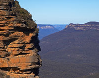 Cliff top. Cliff on mountain range - blue mountains, sydney, australia Royalty Free Stock Photography