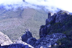 The Cliff Top. Mt Meuller Tasmania, walking along the cliff top Royalty Free Stock Photography