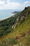 Cliff top view of Folkstone Stock Photos