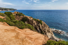 Cliff Top Viewpoint Terrace at Mediterranean Sea Royalty Free Stock Photo