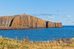 Cliff in the town of Stykkisholmur, Snaefellsnes peninsula, Icel Stock Photography