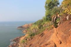Cliff Trails van Gokarna royalty-vrije stock foto's