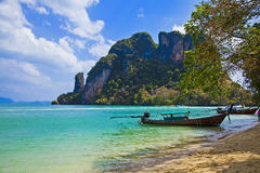Cliff tropical sea landscape in Phang nga bay Royalty Free Stock Photography