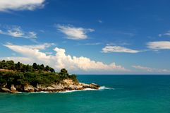Cliff in Ulcinj, Montenegro Stock Image