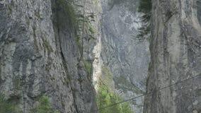 Cliff Vertical High Ravine stock footage