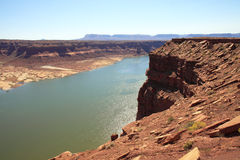 Cliff view of Colorado River Stock Images