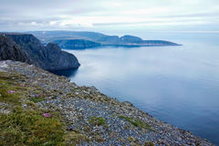 Cliff view in Norway during summer stock image