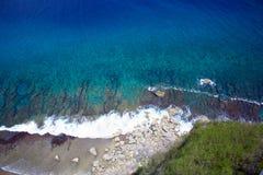 Cliff View, point Guam de deux amants Images libres de droits