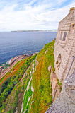 Cliff View of an Island Castle Royalty Free Stock Photos