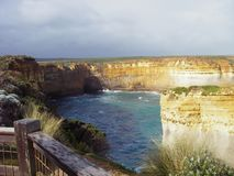 Cliff view at the Twelve Apostles, Australia stock photos