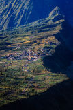 Cliff Village in Mount Bromo Stock Photography