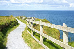 Cliff Walk On The Wild Atlantic Way In Ballybunion Stock Photo
