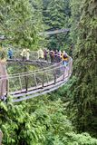 Cliff Walk Over Capilano River em Vancôver imagens de stock royalty free