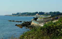 Cliff Walk. This is a portion of the 3.5 mile (5.6 km) Cliff Walk in Newport, Rhode Island. A good portion of this walk takes you along the Newport Coastline royalty free stock photos