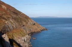 Cliff Walk tussen Bray en Greystones stock foto's
