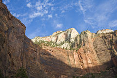 Cliff Walls. In Zion National Park Stock Image
