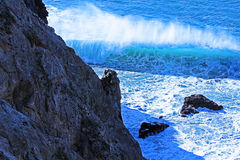 Cliff Waves Photos stock