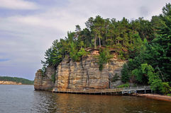 Cliff in Wisconsin Dells royalty free stock images