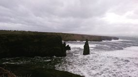 Cliff' s i Irland Arkivbild