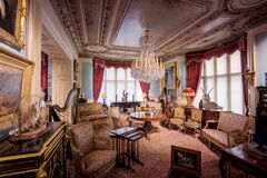 Cliffe Castle Music Room Royalty Free Stock Photography