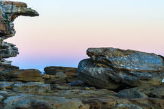 Cliffe stone and the sea Royalty Free Stock Photo