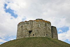 Cliffford's Tower. Clifford's Tower in York, Yorkshire, United Kingdom Royalty Free Stock Photography