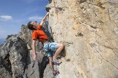 Cliffhanger. Royalty Free Stock Photo