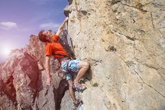 Cliffhanger. Stock Photos