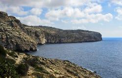 Cliffline de Malta foto de stock royalty free