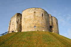 Clifford's Tower. Cliffords Tower - York, England, UK Royalty Free Stock Photography