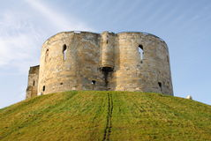 Clifford's Tower. Cliffords Tower - all that remains of York Castle, which was originally built by William the Conqueror Royalty Free Stock Photos