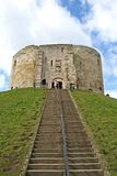 Clifford's Tower. At York, England royalty free stock images