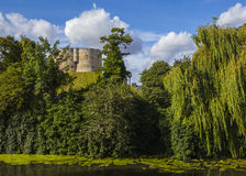 Clifford's Tower and the River Ouse in York Stock Photography